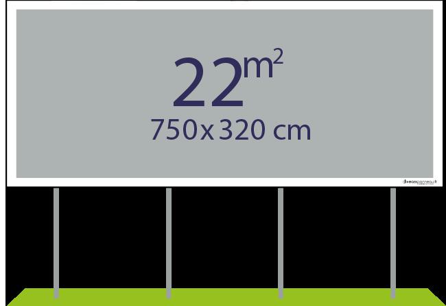 Panneaux pulicitaires 22m² - Easypanneau