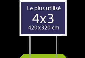 Panneau publicitaire 4x3 - Easypanneau
