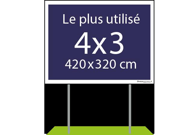 panneaux publicitaires - 4x3 Easypanneau