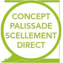 concept palissade scellement direct - EasyPanneau