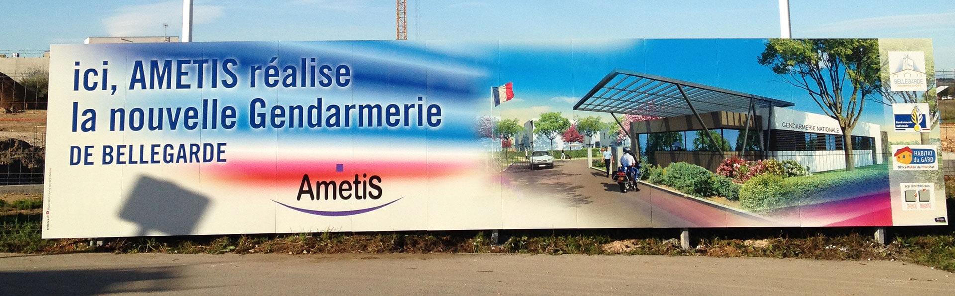 Panneau publicitaire immobilier - Ametis - Easypanneau